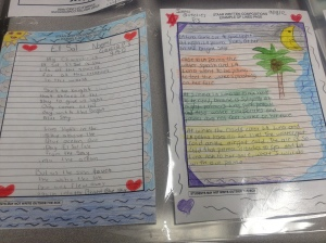 Poetry is beautiful! My students are so creative!